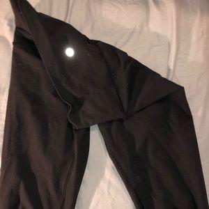 """Lululemon black align 25"""" yoga pants"""